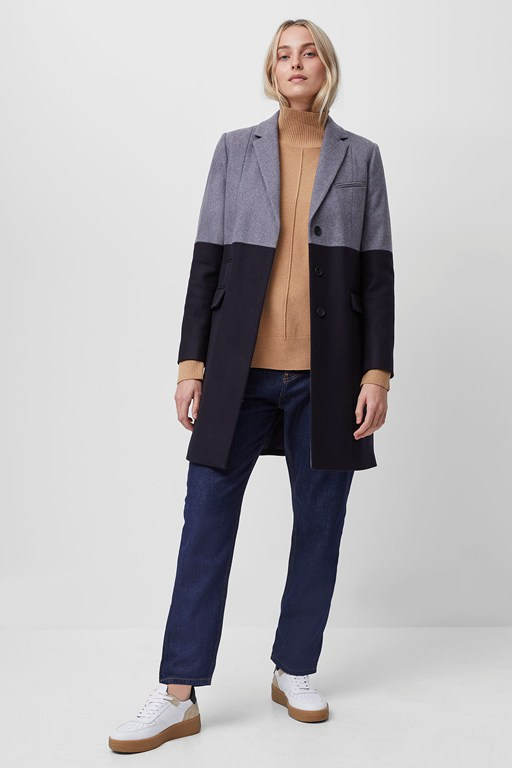 erita colorblock platform felt coat