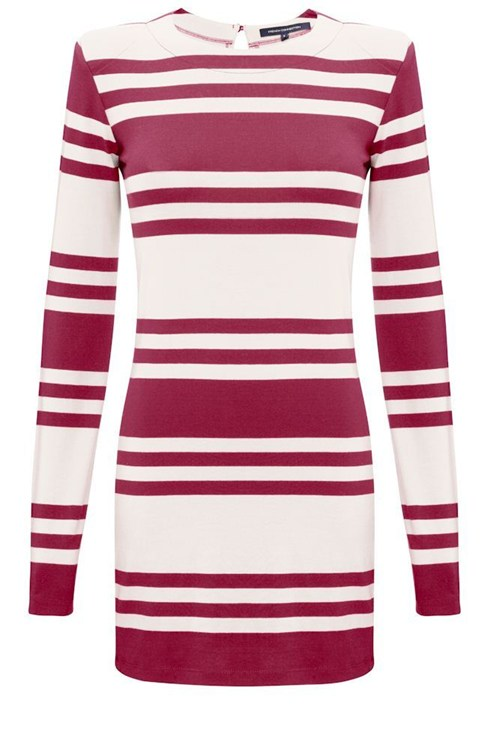 JAG STRIPE LONG SLEEVE DRESS