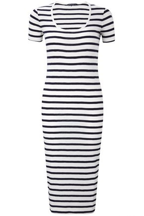 Sardinia Stripe Scoop Neck Dress