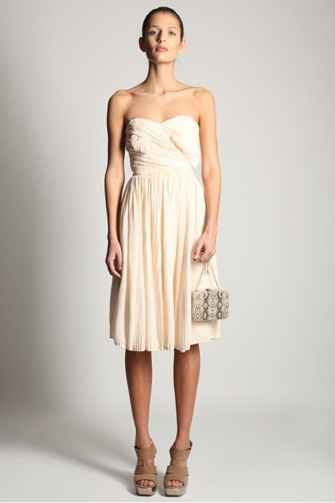 MINE & YOURS STRAPLESS DRESS