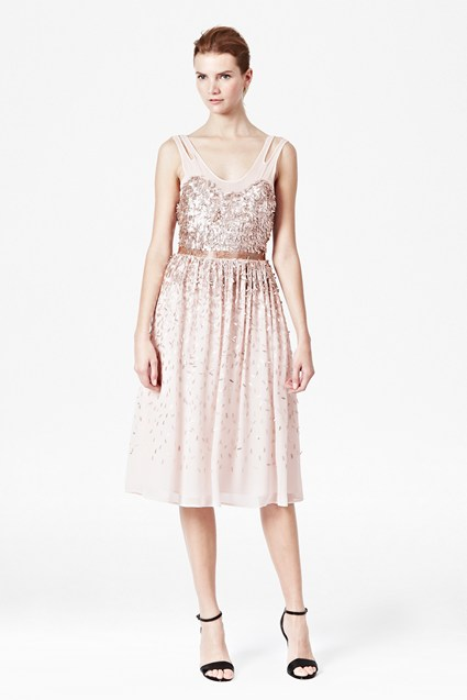 Shimmer Shower Midi Dress