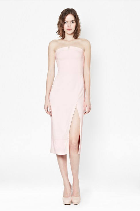 San Diego Drape Strapless Dress