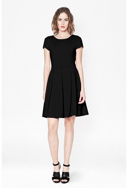 Natalia Ottoman Ribbed Dress