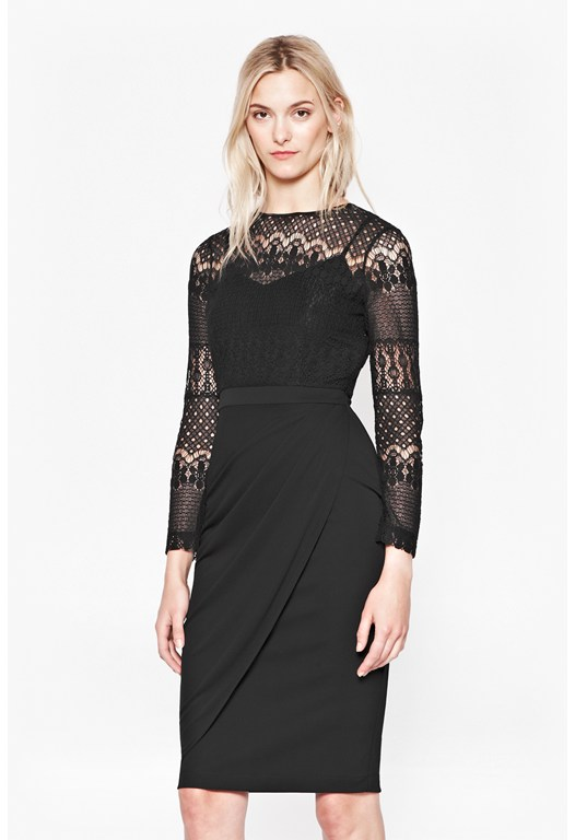 Lace Draped Dress