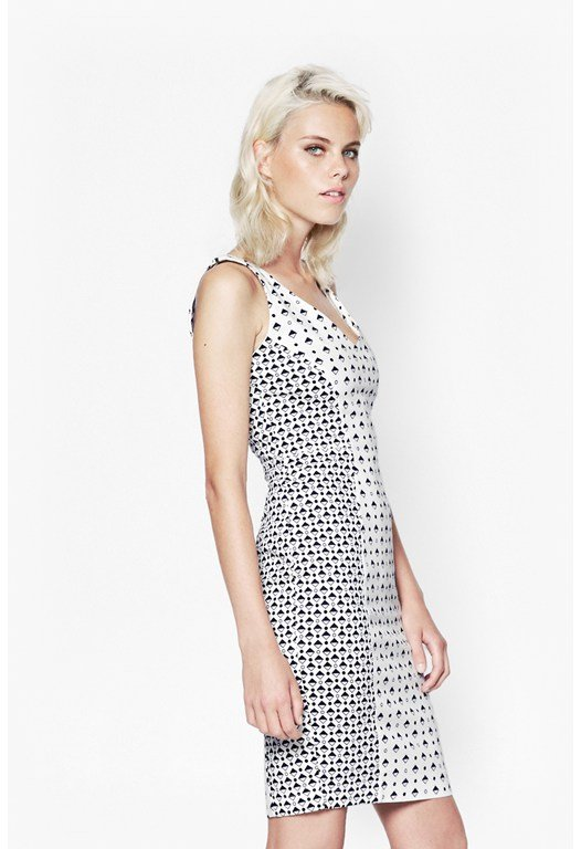 Modern Mosaic Strappy Dress