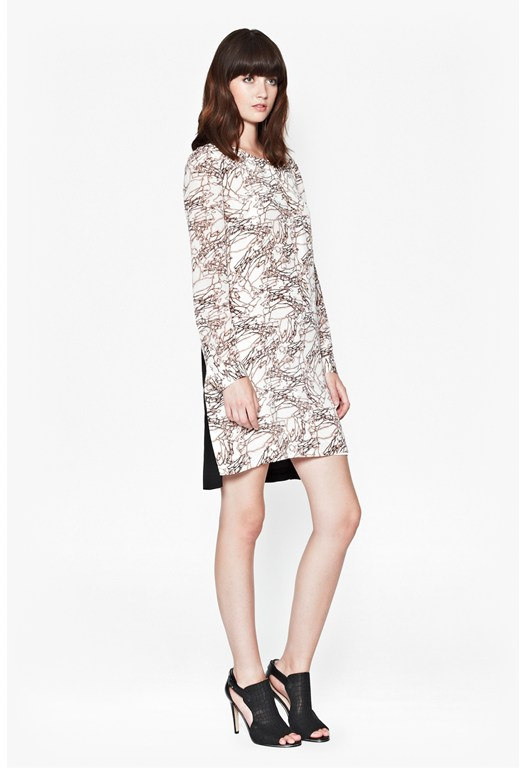 Stellar Ice Silk Tunic Dress