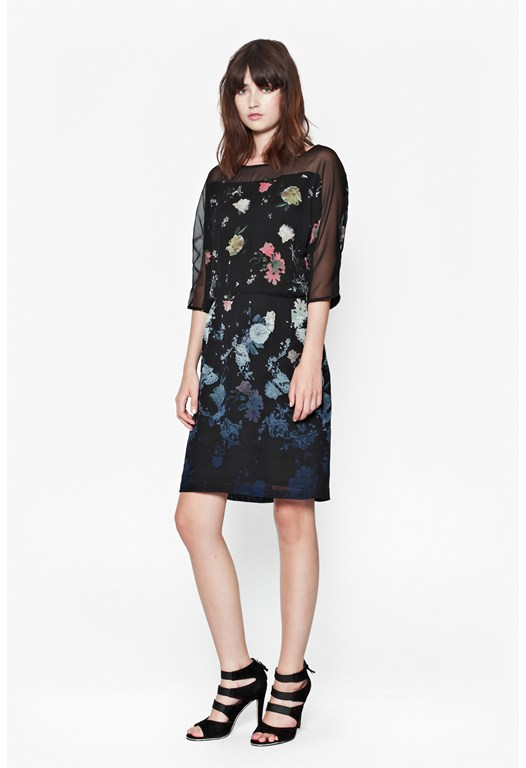 Nightfall Floral Dress