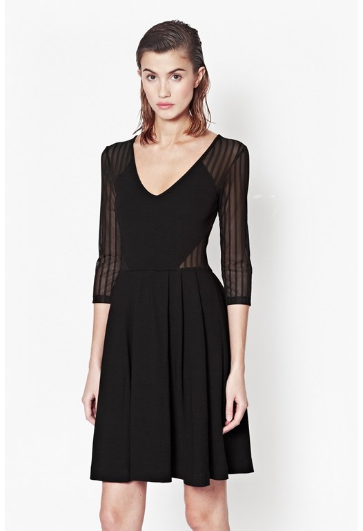 Liv Sheer Flared Dress