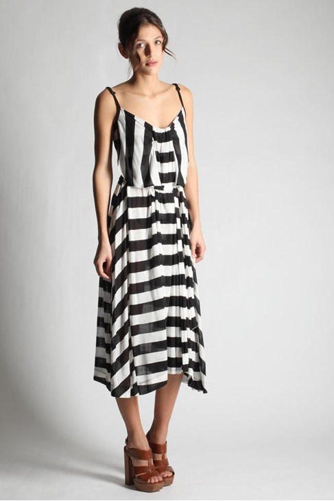 BROADWAY STRIPE MAXI DRESS