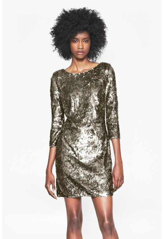 Winter Wave Sequinned Dress