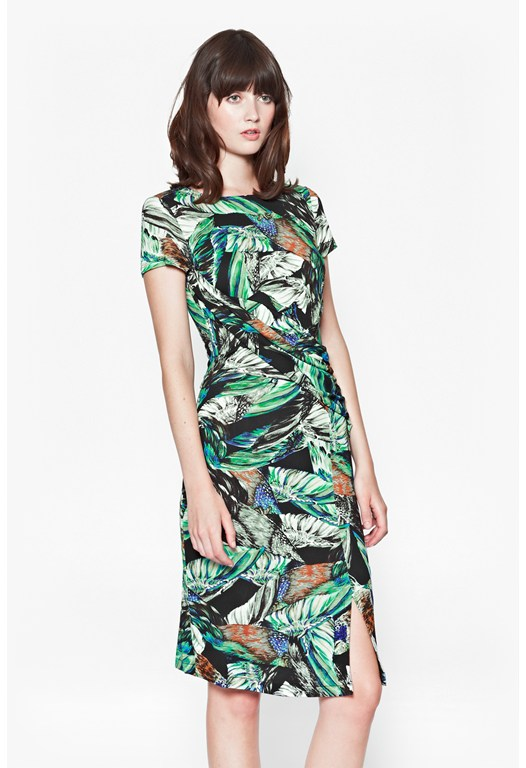 Calliope Printed Jersey Dress