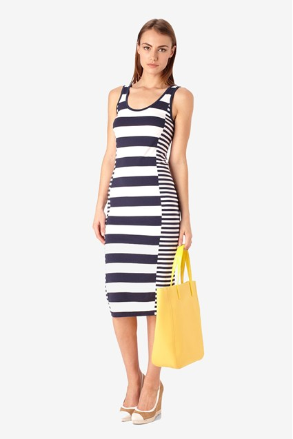 Fun Striped Long Dress