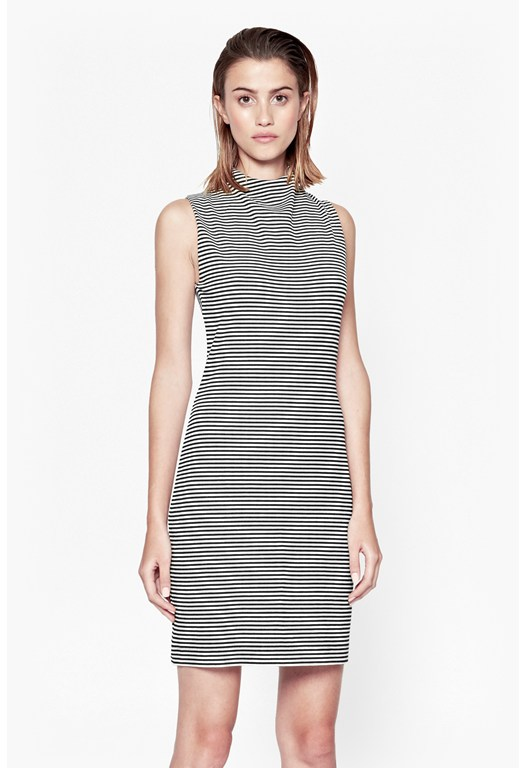 Liquorice Lines Sleeveless Dress