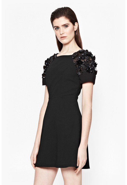 Cassin Flower Embellished Dress