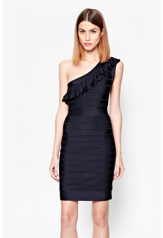 Miami Spotlight Bodycon Ruffle Dress