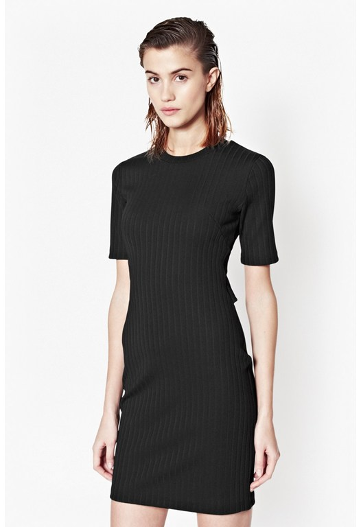 Tracks Ribbed Dress