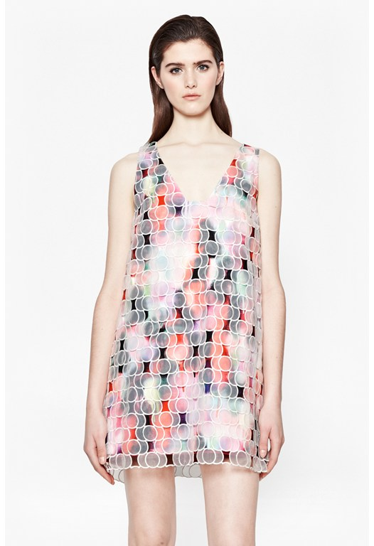 Miami Graffiti Organza Dress