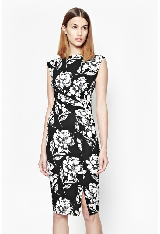 Shadow Bloom Mono Dress