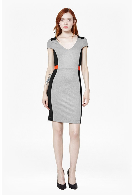 MANHATTAN CPSLV VNK DRESS
