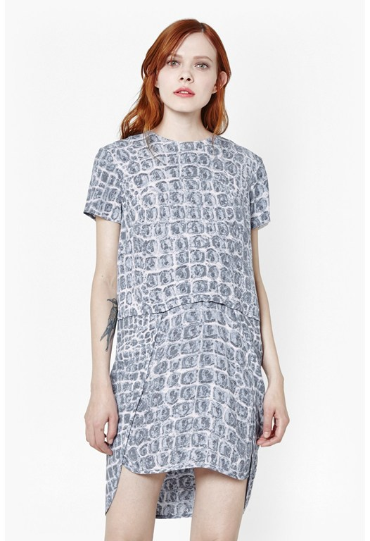 Ali Gator Printed Dress