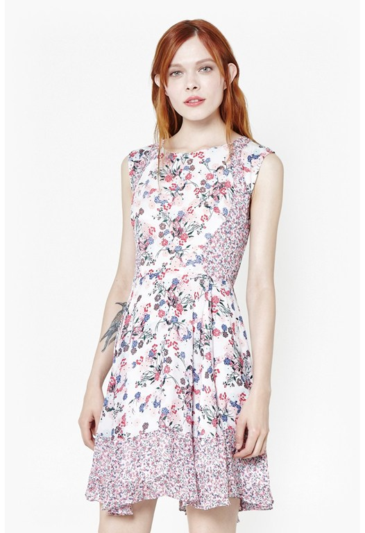 Water Garden Georgette Dress
