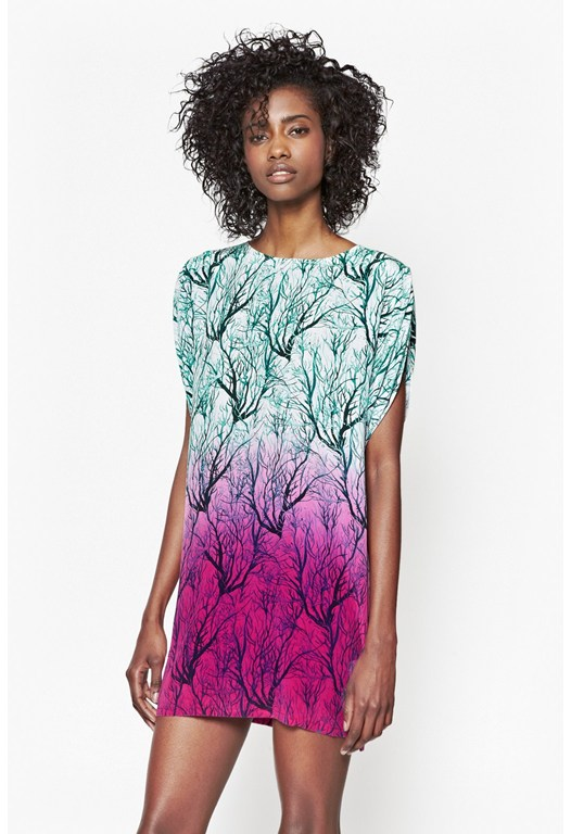 Sea Fern Silk Dress