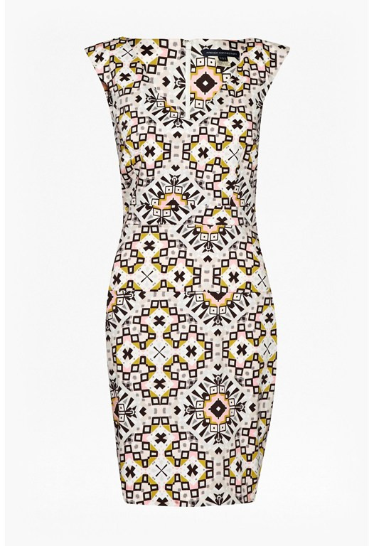 Electric Mosaic Cotton Dress
