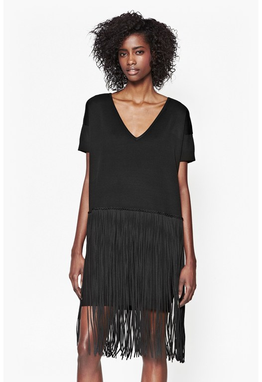 Spotlight Fringe V-neck Dress
