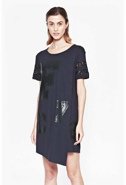 F 72 Asymmetric T-Shirt Dress