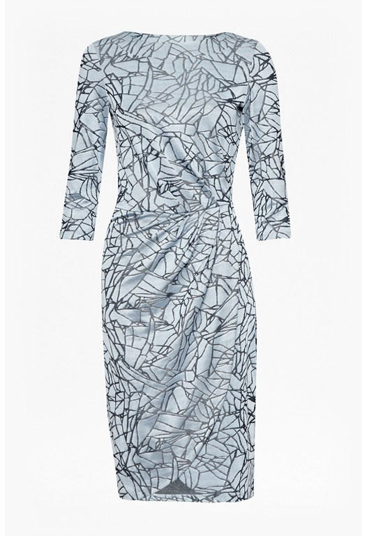 Shatter Jacquard Wrap Dress