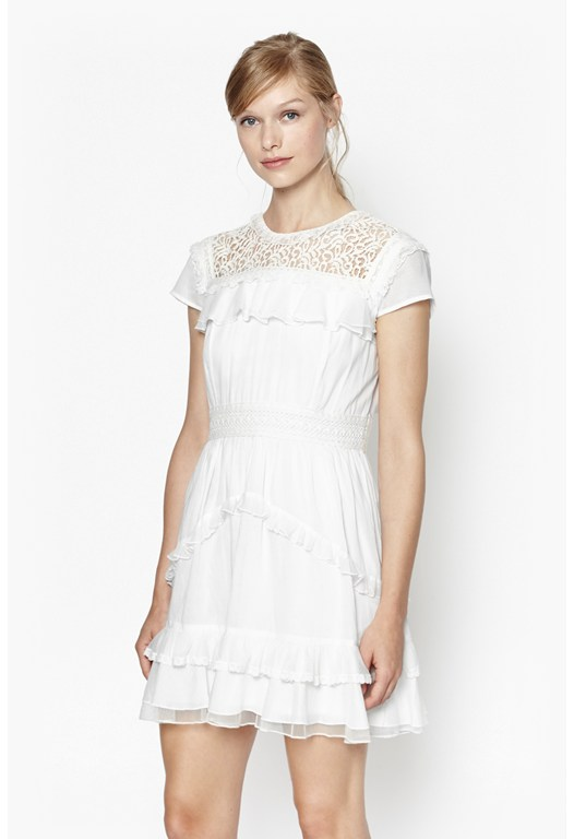 Dayton Lace High Neck Dress