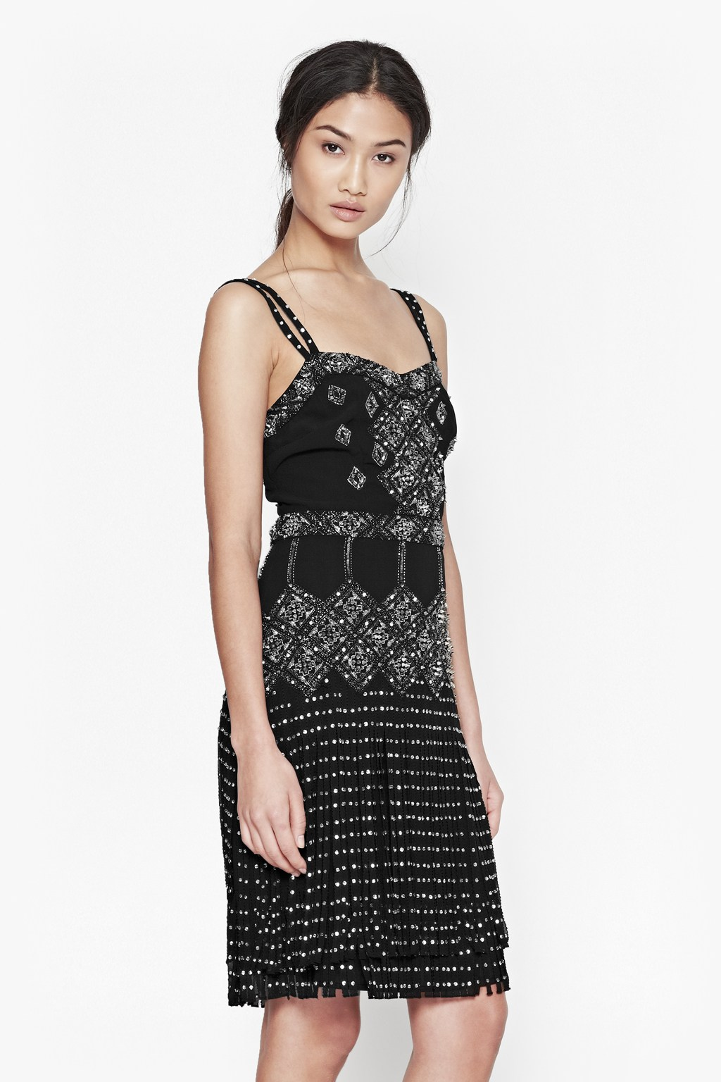 Diamond Fringe Beaded Dress