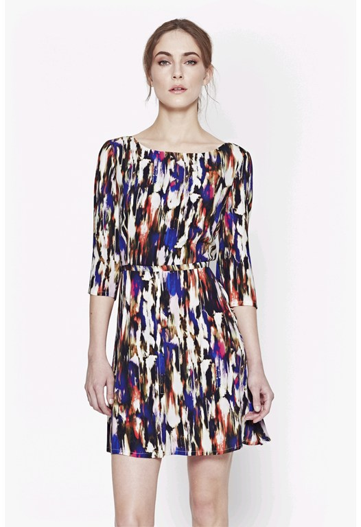 Record Ripple Drape Dress