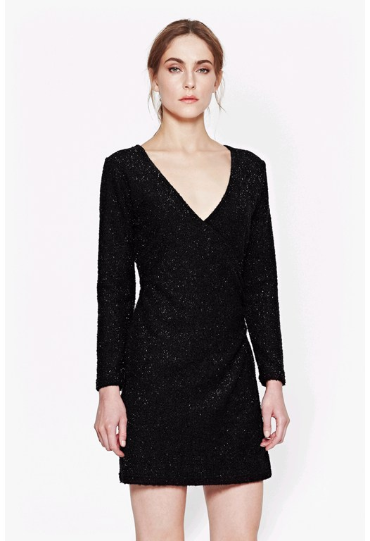 Sparkle Nights Wrap Dress