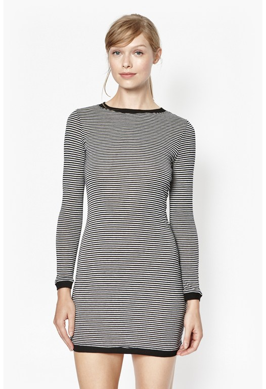 Starzy Stripe Long Sleeve Dress