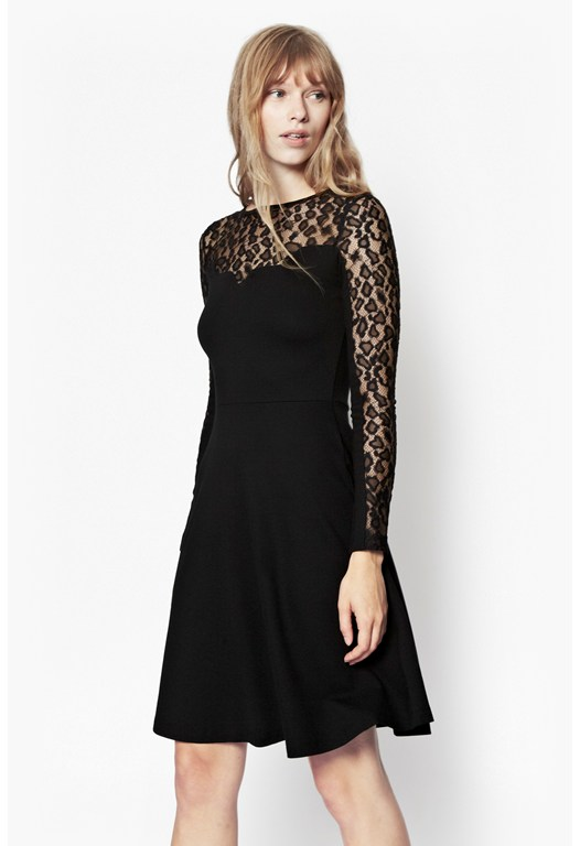 Animal Lace Jersey Dress