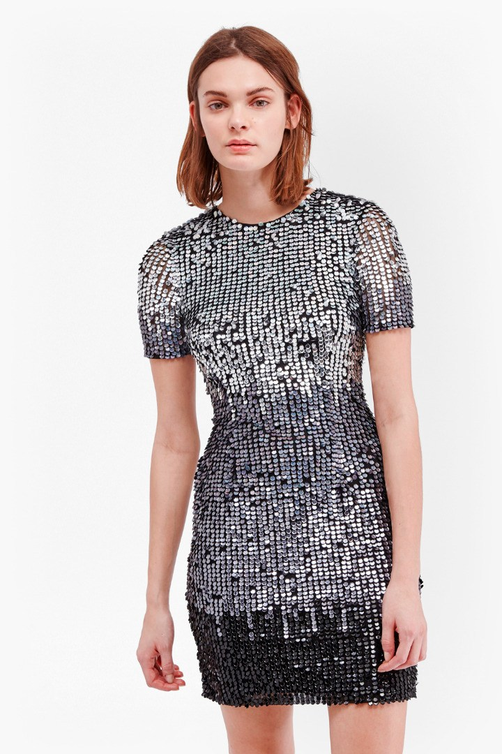 Sunbeamer Fitted Sequin Dress