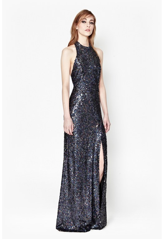 Lunar Sparkle Sequin Maxi Dress