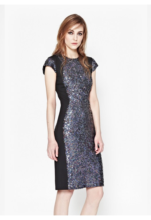 Lunar Sparkle Sequin Dress