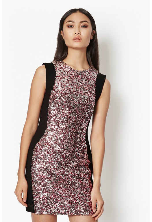 Lunar Sparkle Sequin Mini Dress