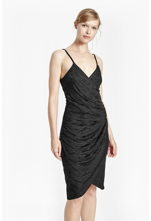 Satin-Jacquard Strappy Dress