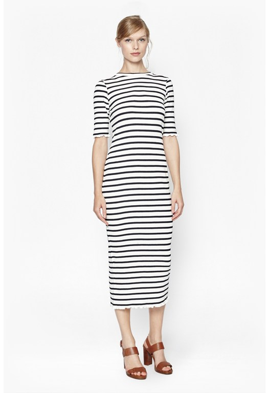 Bodycon Stripe Maxi Dress