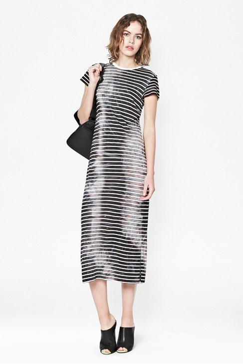 Amelia Striped Jersey Maxi Dress