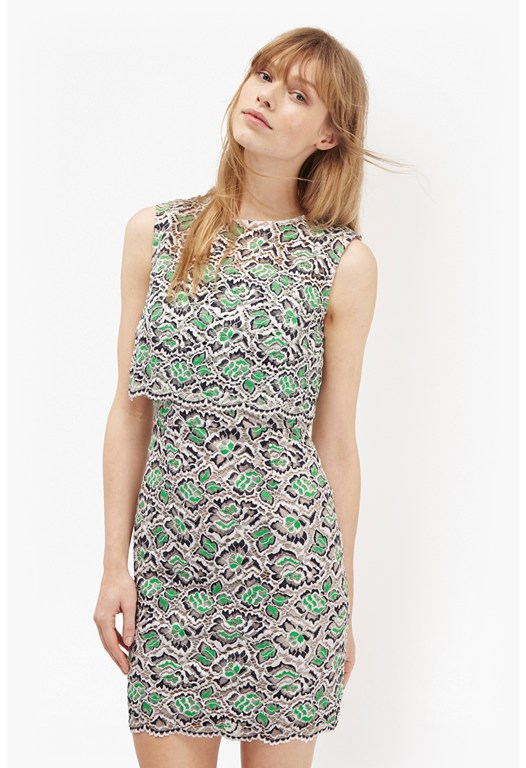 Boccara Tiered Lace Dress