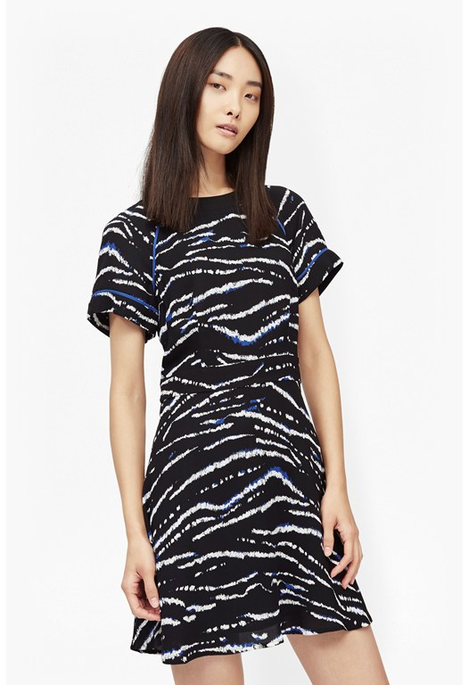 Tapir Wave Crepe Dress