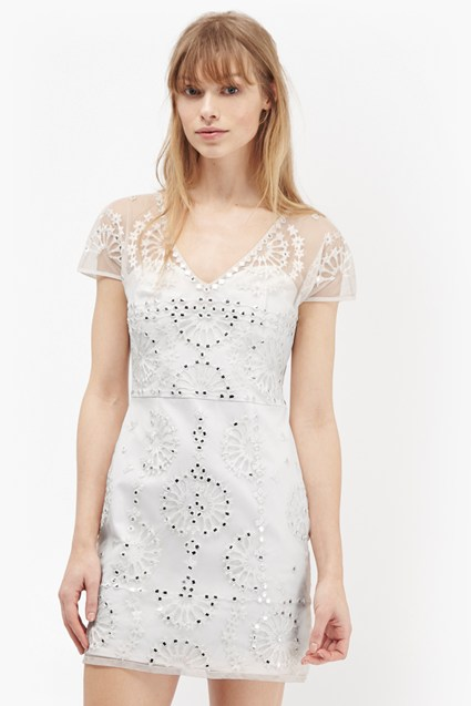 Evie Sparkle Embroidered Mini Dress