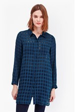 Looks Great With Long Open Weave Check Shirt