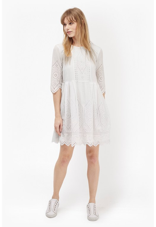 Josephine Cotton Broderie Anglaise Dress