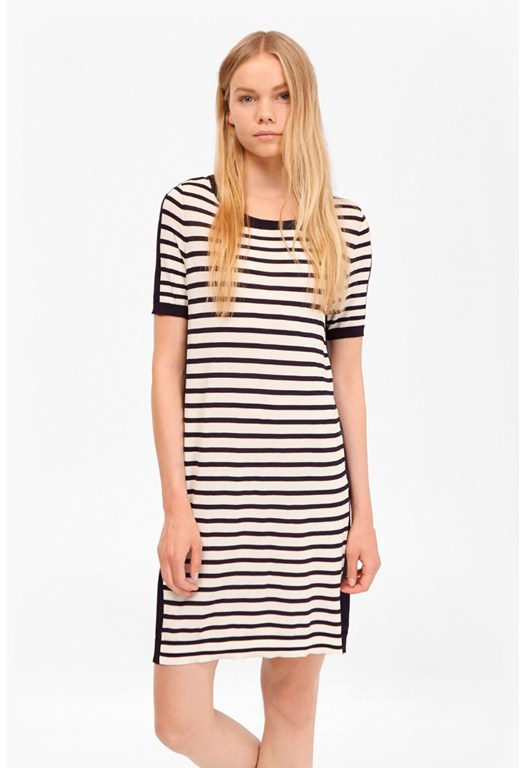 Cass Striped Jumper Dress