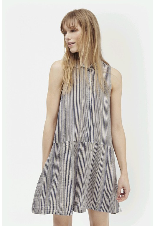 Serge Stripe Shirt Dress